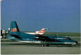Thème -  Avion - PI LEconte 542 - BRitish Midland Fokker F 27 G BMAE Paris CDG - 1946-....: Era Moderna