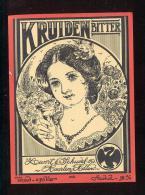 Etiquette De Liqueur   -  Kruiden  Bitter  -  Levert Et Schudel  à  Haarlem  (Hollande) - Sin Clasificación
