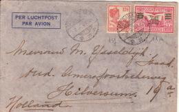INDES NEERLANDAISES - N° 137 + PA N°11a Oblitérés De SOERABAJA Sur Lettre Par Avion Pour Les Pays-bas - 08-03-1933. - Indes Néerlandaises