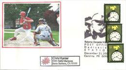 USA.Major League Baseball Right Fielder Roberto Clemente.Dedication Station. Une Enveloppe Oblit.speciale Base Ball - Enveloppes évenementielles