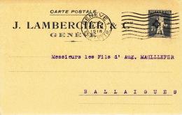 Deux (2) Cartes D´entreprise J. Lambercier & Cie, Genève. Carte D´entreprise Du 28.3.1918 - Switzerland