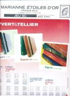 Jeu France Yvert  SC 2012 - Marianne Etoiles D'or - Pré-Imprimés