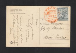 Czechoslovakia PPC Praha  1938 Autoposta - Briefe U. Dokumente