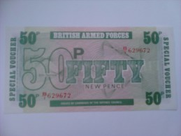 Billete Fuerzas Armadas Británicas. 50 Peniques. 1972. Reino Unido. 6ª Serie - Fuerzas Armadas Británicas & Recibos Especiales