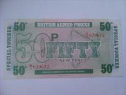 Billete Fuerzas Armadas Británicas. 50 Peniques. 1972. Reino Unido. 6ª Serie - Emisiones Militares