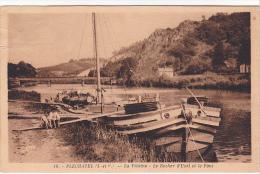 22064 Plechatel , 35 France -La Vilaine Le Rocher D'Uzel Et Pont - Peniche Enfant  - Péniches