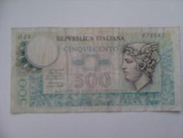 Billete Italia. 500 Liras. 2-4-1979 - 500 Liras