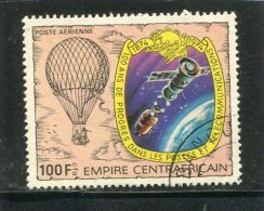 CENTRAL AFRICAN REPUBLIC. 1978. SCOTT C191. COMMUNICATIONS TYPE OF 1978. BALLOON AND SPACESHIPS DOCKING IN SPACE - Centrafricaine (République)