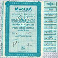 Maglum Electricité à Neuilly Sur Seine, Statuts à Montbeliard, Série E - Electricité & Gaz
