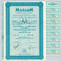 Maglum Electricité à Neuilly Sur Seine, Statuts à Montbeliard, Série G - Electricité & Gaz