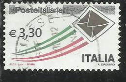 ITALIA REPUBBLICA ITALY REPUBLIC 2009 2015 POSTA ITALIANA € 3,30 USATO USED OBLITERE' - 2011-...: Gebraucht