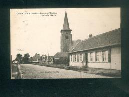 Lecelles (Nord 59) - Rue De L' Eglise Vers La Gare ( Sorel Emaille ) - France