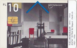 NL  --  OLD PHONECARD  --  10 GULDEN  --  PIET MONDRIAAN - Netherlands
