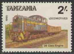 Tanzania 1985 Mi 282 ** Class 36 Diesel Locomotive - Tanzania Railway Locomotives / Lokomotive - Treinen