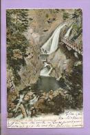 Allemagne - Wasserfall In Den Ravennaschlucht - 1904 - 2 Scans - Hoechenschwand