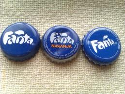 Lote 3 Chapas Kronkorken Caps Tappi Fanta. España - Alemania - Capsules & Plaques De Muselet