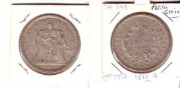 """5  Fr  Hercule  Argent  1872  A. """"  Petites  Etoiles  """" ...  Superbe   Qualité  ... !   ENVOI  GRATUIT  En  FRANCE   ! - France"""