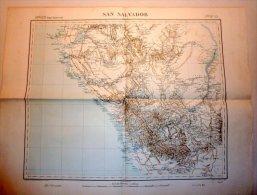 CARTE GEOGRAPHIQUE DE 1896 AFRIQUE  CONGO Afrique (région équatoriale) / [dressé Et Dessiné Par Régnauld De L - Mapas Geográficas