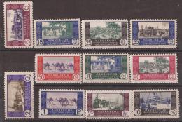 MA280-L4098TANMO.Marruecos . Maroc.  Marocco.MARRUECOS  ESPAÑOL.Comercio.1948  (Ed 280/90**)sin Charnela.MAGNIFICA. - Sellos