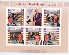 Karl Malden-cinéma-Guinée Bissau-4154/8+B907* **MNH** *MNH-NON Dentelé - Cinema