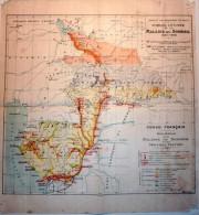 CARTE GEOGRAPHIQUE 1907 AFRIQUE CONGO FRANCAIS OUBANGUI CHARI TCHAD MALADIE DU SOMMEIL SANTE - Mapas Geográficas