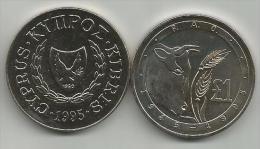 Cyprus 1 Pound 1995. UNC FAO - Chipre