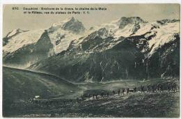 """DAUPHINE : """" Environs De La Grave La Chaîne De La Meije Et Le Rateau Vus Du Plateau De Paris """" Chasseurs Alpins - France"""