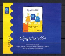 Greece 2004 > Mi BL 37 ( 2239 ) > Athens Olympics 2004 , Olymphilex 2004 > New MNH ** - Greece