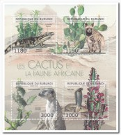 Burundi 2013 Postfris MNH, Cacti, Animals - Burundi