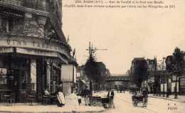 PARIS CPA RUE DE VOUILLE ET LE PONT AUX BOEUFS VINS TABACS ME VENOT - France