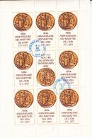 BLOC DE 9 VIGNETTES  1800 E ANNIVERSAIRE DES MARTYRS DE LYON - CAD LYON 14-15 MAI 1977 - Blocs & Carnets