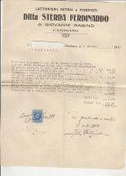 PO3014C# LETTERA CON BUSTA CARTA INTESTATA LATTONIERE - VETRAI - POMPISTI STERNA - CAMBIANO - TORINO 1931 FISCALI REGNO - Italia