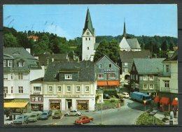 """Color Photo AK Germany Gummersbach 1976  """"Kaiserstrasse Mit Apotheke Und GREKO Kleidung,belebt  """"1 AK Used, Bef. - Gummersbach"""