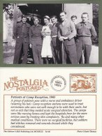 Postcard WW2 Patients Nurse Ambulance Camp Reception Station 1943 Nostalgia Repro - War 1939-45