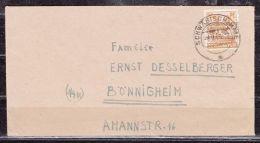Brief, EF Bandaufdruck, Schwaebisch Hall Nach Boennigheim 1948 (44568) - Zone Anglo-Américaine