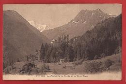BSA-01 Chalet De La Casita Et Le Mont-Blanc. Cachet Finhaut 1919 - VS Valais
