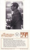 Postcard Major DENIS HEALEY 1945 Labour Party Politician Minister Nostalgia Repro - People