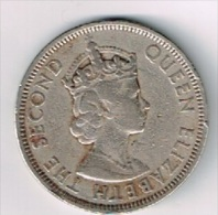Pièce De 1 Rupee Queen Eliszabeth The Second - Mauritius 1971 (Ile Maurice) - Mauritius