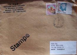 1999 STAMPE Castello £ 300 Donne Nell´arte 1000 Lire Castelli D´Italia Busta Lettera Usato - 1991-00: Marcophilia