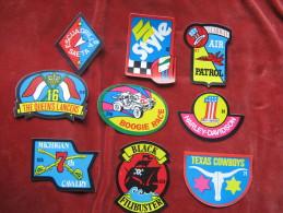 Lote 9 Autocollants-Pegatinas-Stickers Numérotées - Stickers