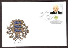 Estonia 1999 Stamp FDC Lennart Meri  The President Of Estonia - Estonie