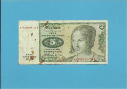 GERMANY - 5 MARK - 02.01.1960 - P18 - DEUTSCHLAND - [ 7] 1949-… : RFA - Rep. Fed. De Alemania