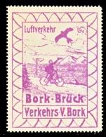 GERMANY  AEROPHILATELIC  VIGNETTE  BORK-BRUCK  1912-3  Reproduction   ** - Airmail