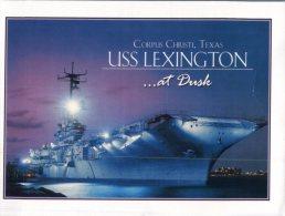 (328) USS Lexington Aircraft Carrier - Porte Avions - Guerre