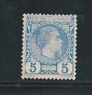 Monaco Timbres De 1891/94  N°3  Neuf * Petite  Charnière Belle Gomme(cote 103€) - Monaco
