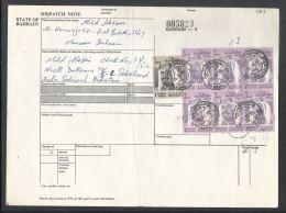 1976-80 Sheik Isa 2d Rose & Vio (6 Stamps),  1d Gray & Sepia, Bahrain Parcel Receipt Cover Send To Pakistan - Bahrain (1965-...)