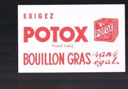 Bouillon Gras POTOX . - Buvards, Protège-cahiers Illustrés