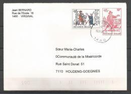 Belgique - N312 - Enveloppe-lettre Belgica 82 - Type Timbre 2073 + Timbre 2071 Obl.ITTRE (titage 50.000 Ex.) - Entiers Postaux