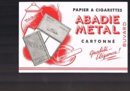 Papier à Cigarettes . ABADIE METAL . - Buvards, Protège-cahiers Illustrés