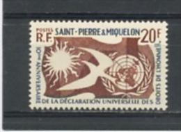SPM:  DROITS DE L´HOMME - N° Yvert 358** - Nuevos